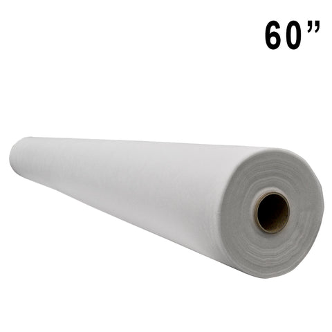"White Polypropylene Backdrop Fabric - 60"" Wide - HomeTex.ca"