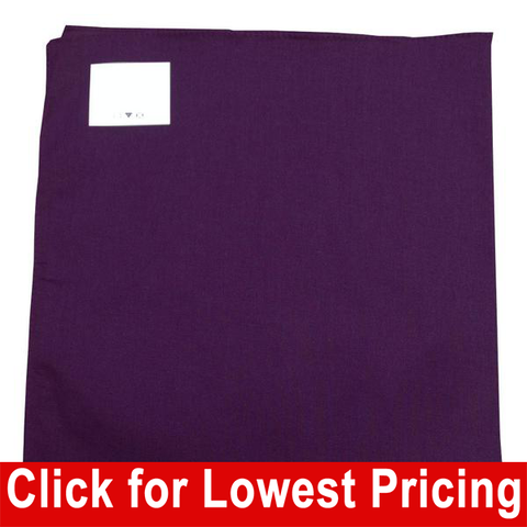 Purple Bandana - 100% Cotton - Solid Color - 12 Pack - HomeTex.ca
