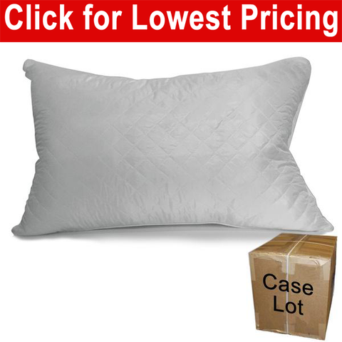 "Quilted Bed Pillow Queen 20"" x 30"" - Case Lots (18 Pieces) - HomeTex.ca"