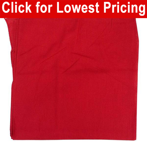 Red Bandanas - 100% Cotton - Solid Color Bandana - Single - HomeTex.ca