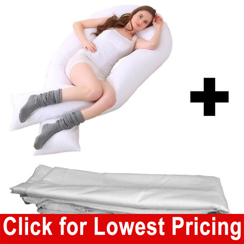 "Total Body Support Bed Pillow  16"" x 130""  with Zippered Cover - HomeTex.ca"