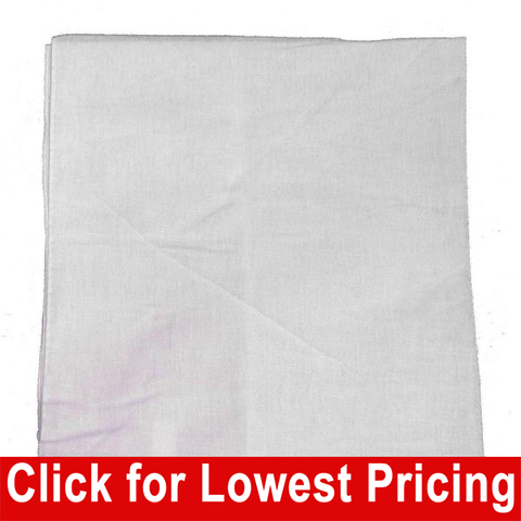 White Bandanas - 100% Cotton - Solid Color Bandana - Single - HomeTex.ca