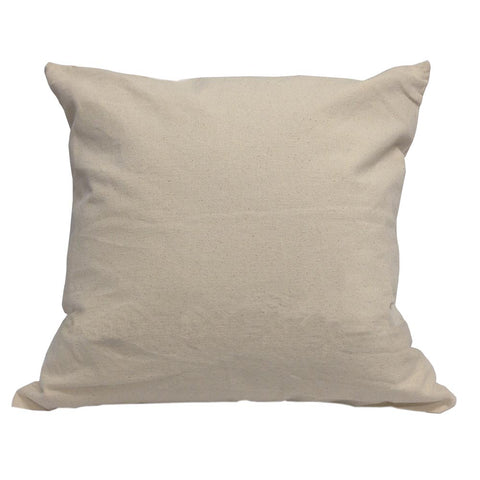 "Blank Cotton Canvas Pillow Cover - 18"" x 18"" FREE WITH $100 ORDER - HomeTex.ca"