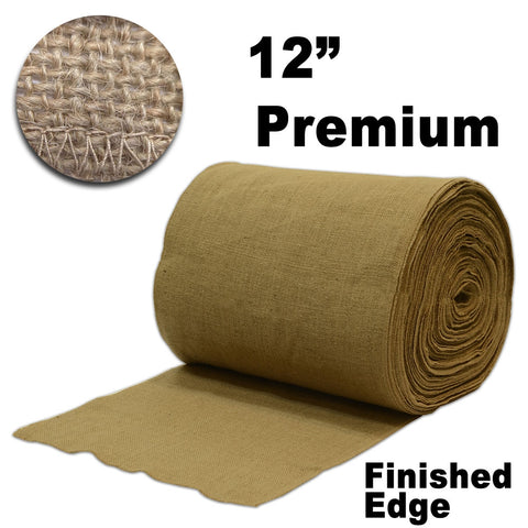 "Premium Burlap 12"" Wide x 50 yards (Finished Edges) - HomeTex.ca"