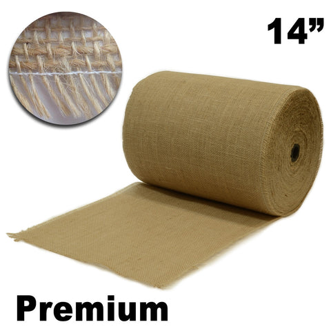 "Premium Burlap 14"" Wide x 100 yards (Unfinished Edges) - HomeTex.ca"
