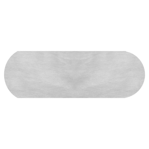 White Polypropylene Backdrop Fabric Rounded Edge - Dual Layer (100 Pack) - HomeTex.ca