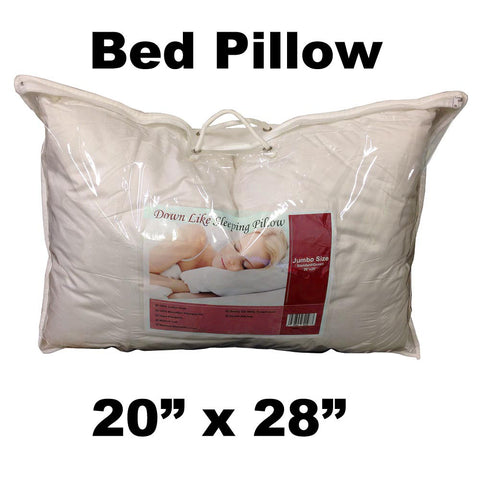 "Pillow Form 20"" x 28"" - Bed Pillow Extra Fill (Synthetic Down Alternative) 1000 g - HomeTex.ca"