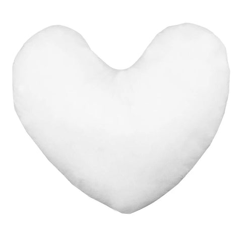 "12"" x 12"" Heart Shaped Pillow Form (Polyester Fill) - HomeTex.ca"