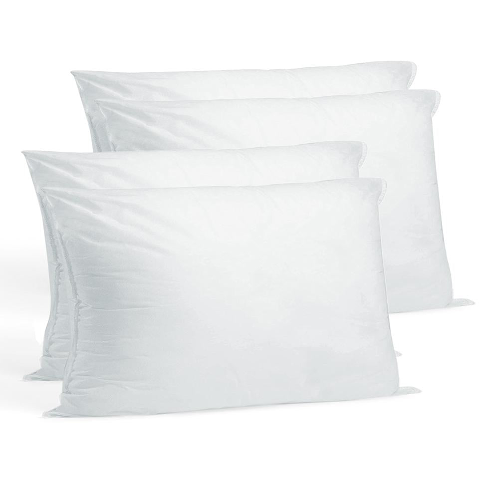 6 Pack Hometex Canada Pillow Insert 18 x 18 Indoor Outdoor Polyester Filled Standard Cover