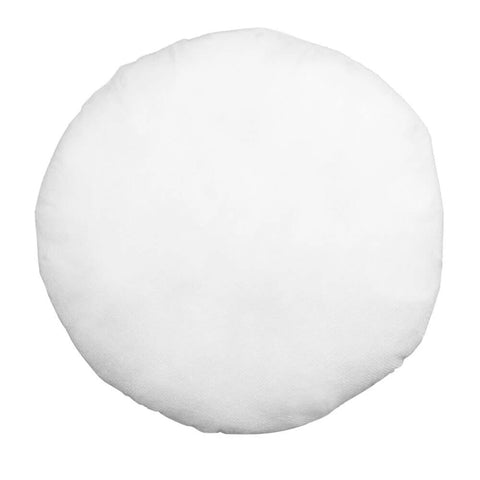 "Round Pillow Form 12"" Round (Polyester Fill) - HomeTex.ca"