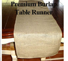 what size burlap runner to order