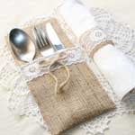 Burlap and Lace Napkins