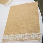 burlap placemat with lace