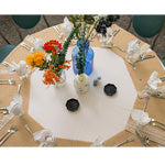 colorful rustic wedding table