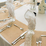 Burlap wedding table placemats