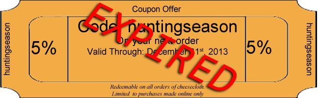 Cheesecloth coupon