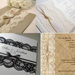 lace trim on invitations