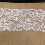 lace trim paired with burlap