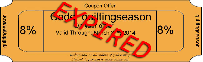 Quilting Coupon 2014