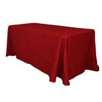 Polyester Red Tablecloth