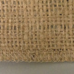 Burlap Serged Edges