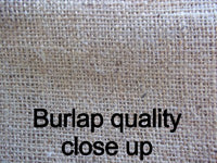 close up of burlap quality