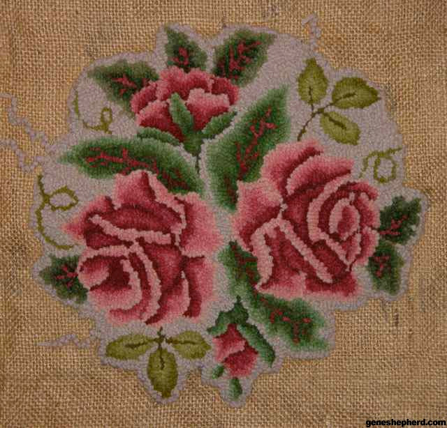 Burlap Rug Hooking Stitch Design