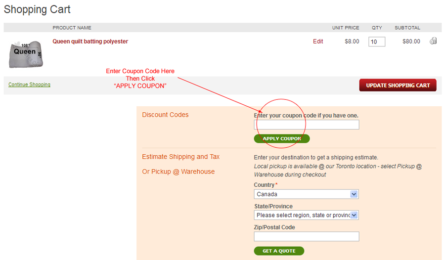 How to Use Coupons on HomeTex.ca