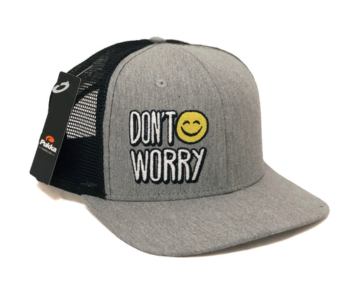 Don't Worry Structured Black Trucker Hat