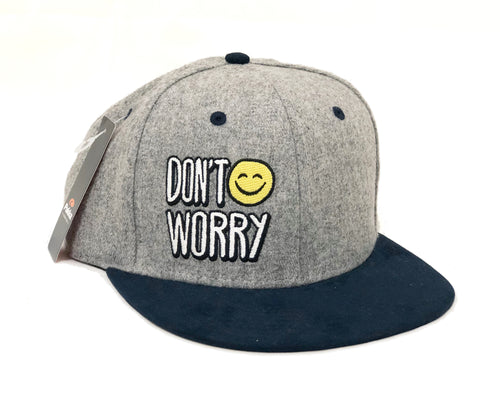 Don't Worry Structured Grey Flannel Hat