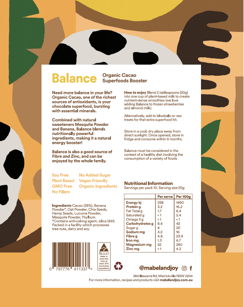 Balance Organic Cacao Superfoods Booster