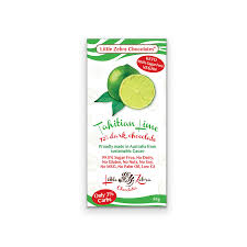 Little Zebra Tahitian Lime Chocolate Bar 85g