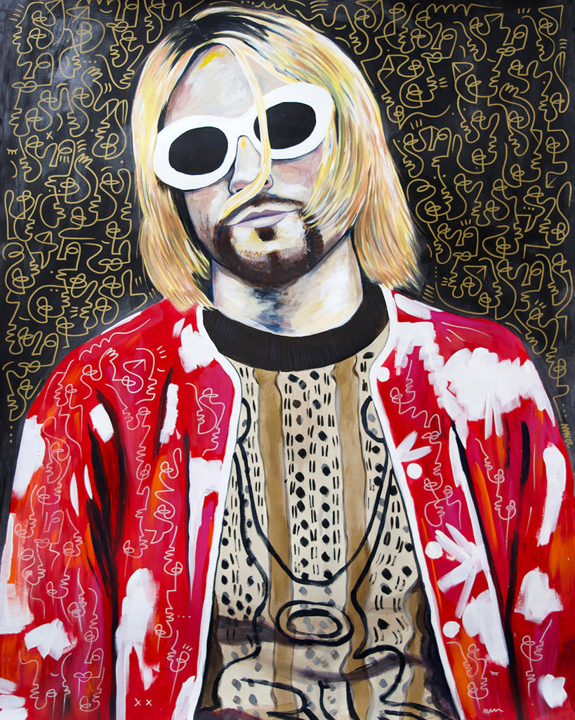 Kurt Cobain collaboration with Stefan Matioc