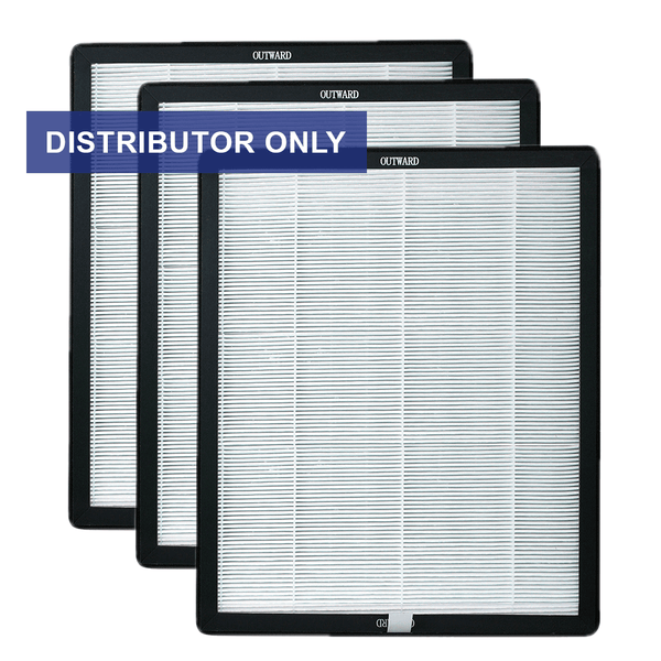 Air Shield Activated Carbon/HEPA Filters 3-Pack