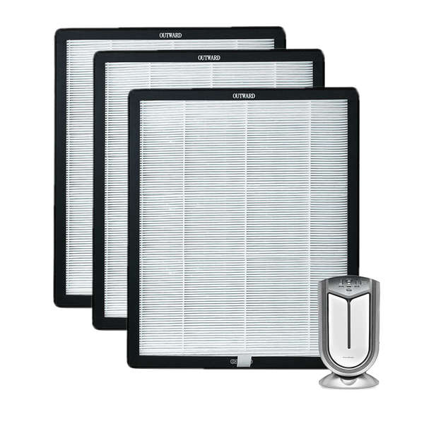 Newport 9000 & Air Shield Set of 3 Activated Carbon/HEPA Filters