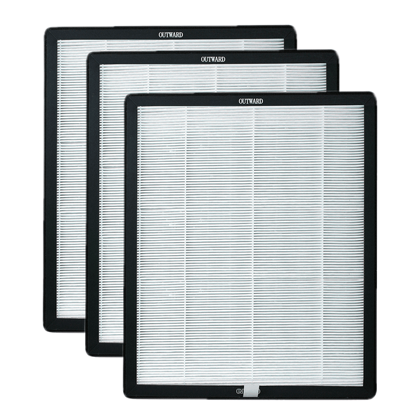 Set of 3 Activated Carbon/HEPA Filters
