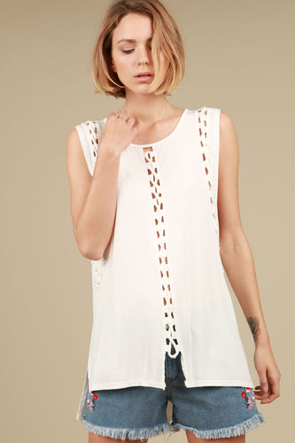 Cutout Braided Top