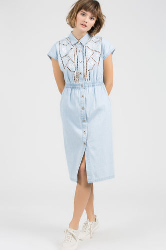 Chambray Mid-Dress