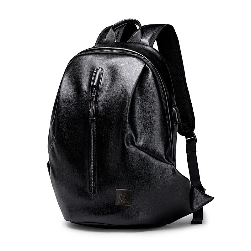Zipper Front Black Backpack - doitRight.store