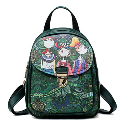 Cartoon Print Small Backpack