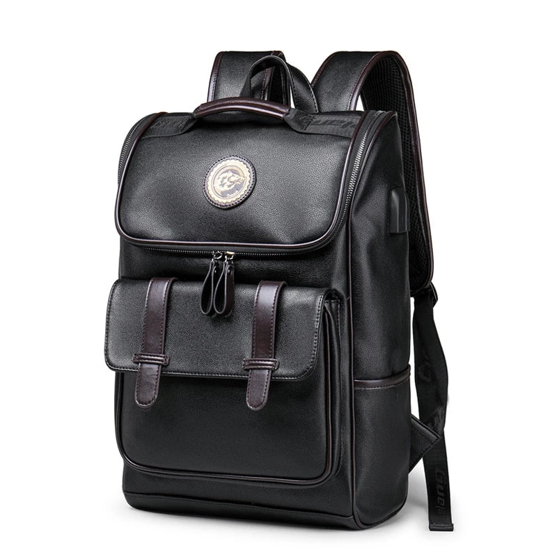 Leather College Style Backpack - doitRight.store