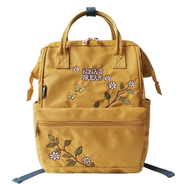 Nina's Dream Embroidery Canvas Backpack - doitRight.store