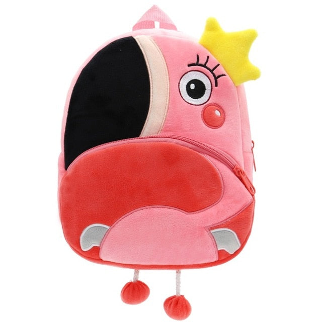 Plush Flamingo Backpack