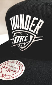 Mitchell & Ness Wool Solid Black OKC Snapback