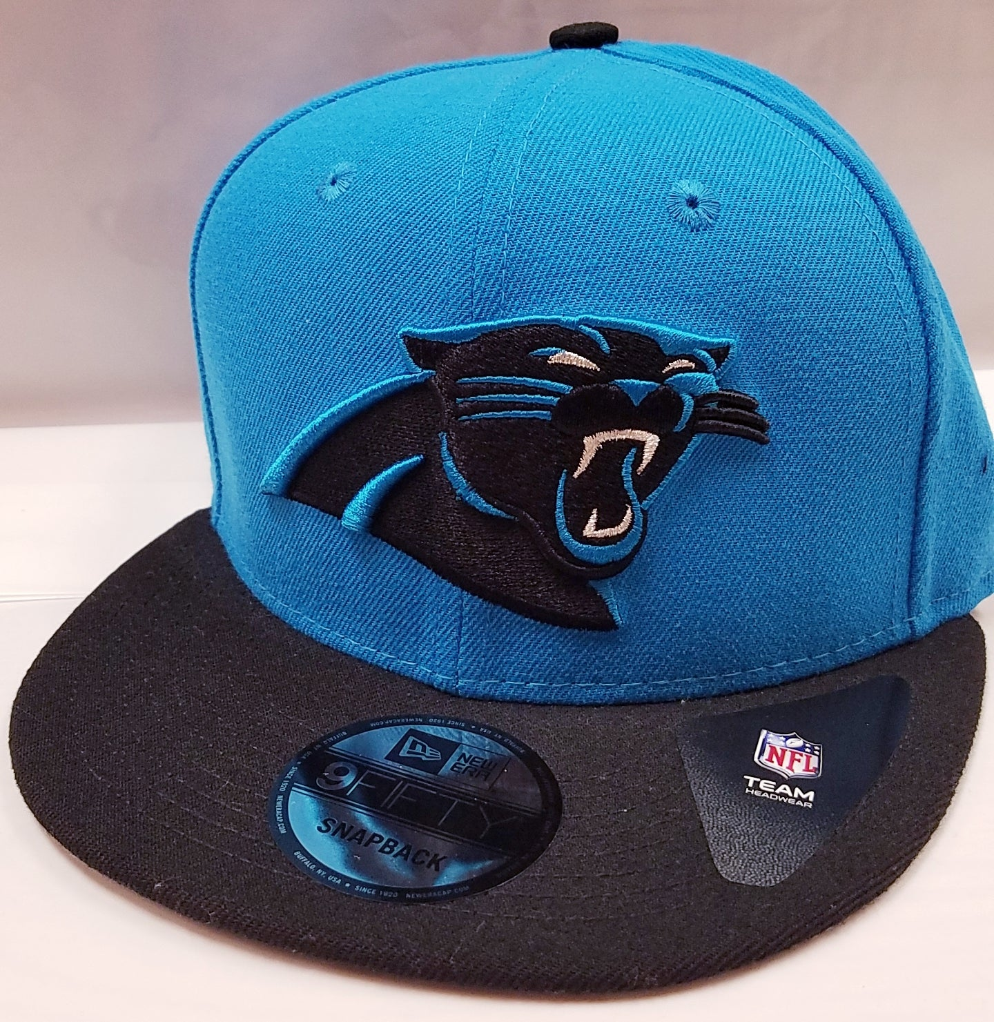 860bfd0328fdf Load image into Gallery viewer, New Era Team Patcher Carolina Panthers  Snapback ...