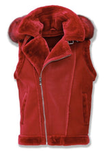Load image into Gallery viewer, Denali Shearling Vest (Red)