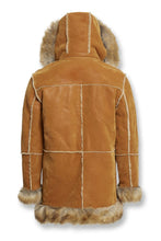 Load image into Gallery viewer, ASPEN SHEARLING JACKET (COGNAC)