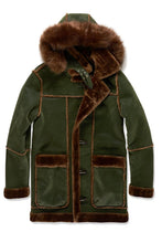 Load image into Gallery viewer, DENALI SHEARLING JACKET (ARMY GREEN)