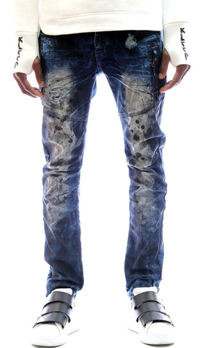 Kleep premium heavy washed stretchable cotton denim pants. kp-2170-fumee.