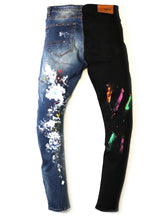 Load image into Gallery viewer, Dijon Limited Premium Washed Half and Half Skinny Denim Pants.